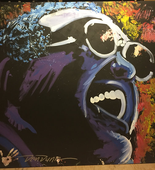 """Ray Charles 72""""x72"""" On Stretched Canvas"""
