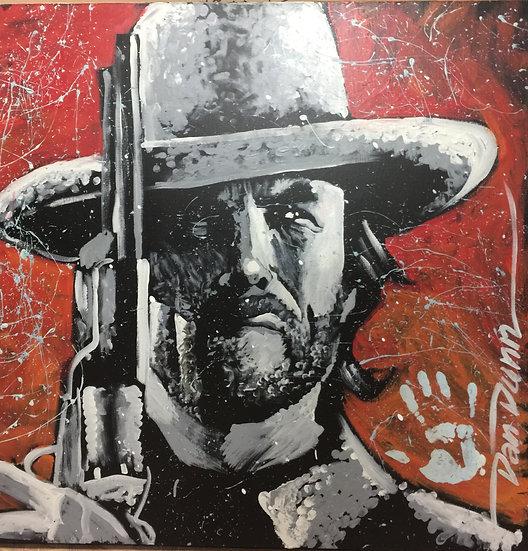 "36""x36"" Clint Eastwood Acrylic on Canvas"