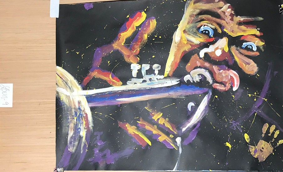 "Louie Armstrong 36""x48"" On Paper"