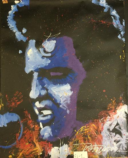 "Elvis 48""x60"" On Paper"