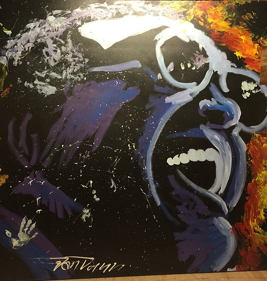 "Ray Charles 72""x72"" On Stretched Canvas"