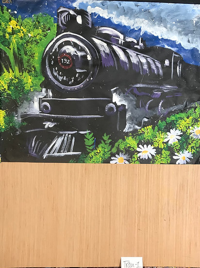 "Train 36""x48"" On Paper"