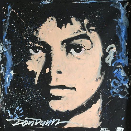 "72""x72"" Michael Jackson Acrylic on Theatrical Muslin"