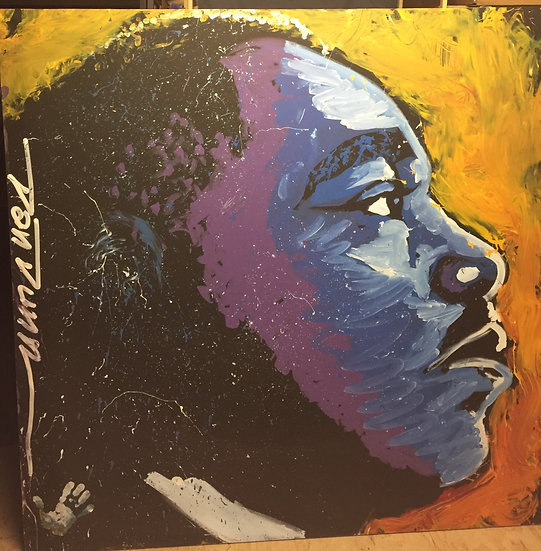 "Martin Luther King Jr 72""x72"" Stretched Muslin"