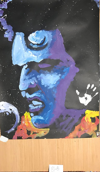 "Elvis 36""x48"" On Paper"