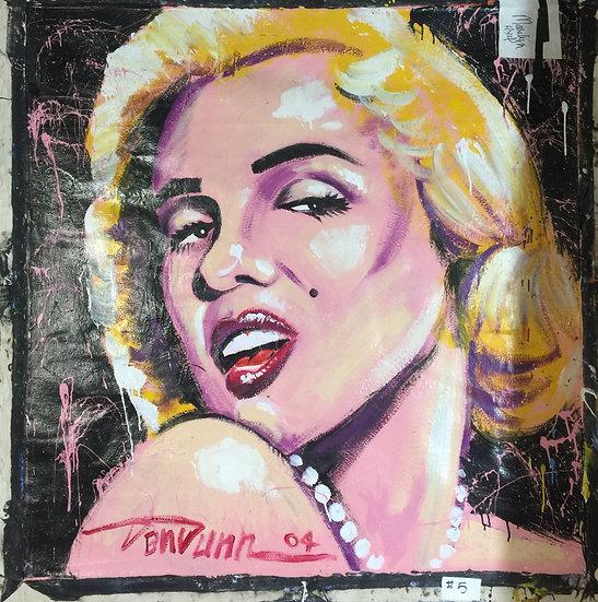 "48""x48"" Marilyn Acrylic on Canvas"