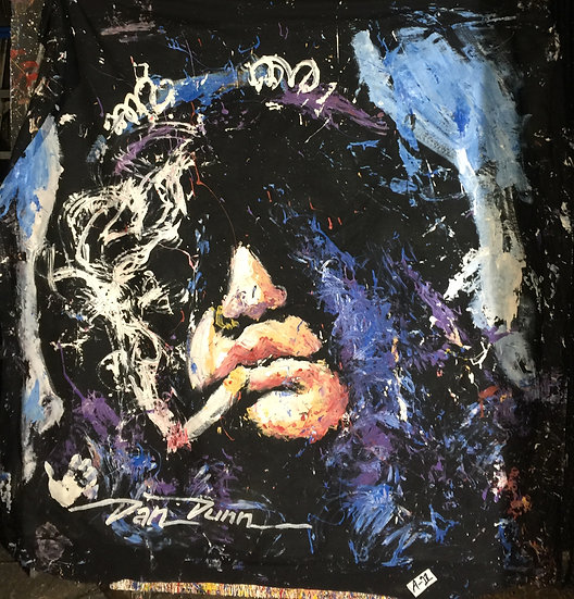 "72""x72"" Slash Acrylic on Theatrical Muslin"