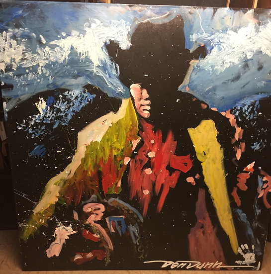 """Cowboy 72""""x72"""" On Stretched Canvas"""
