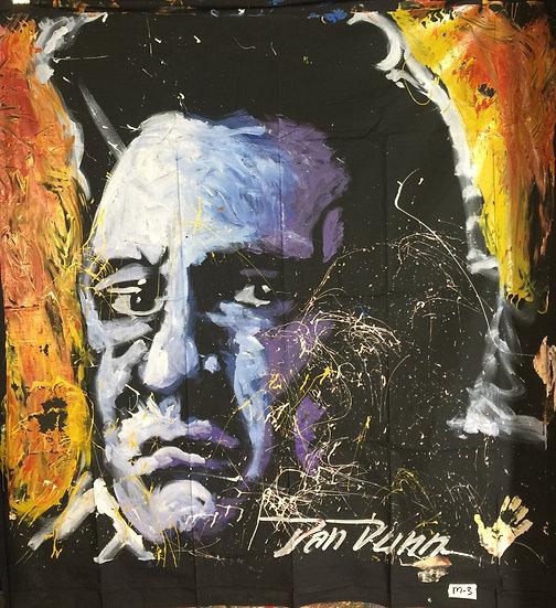 "72""x72"" Johnny Cash Acrylic on Theatrical Muslin"