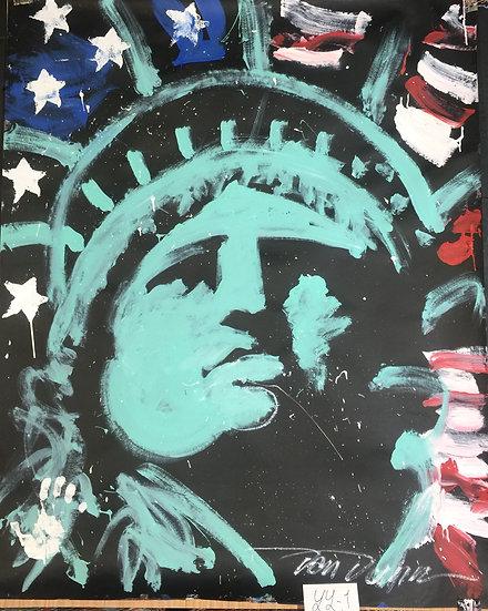 "Lady Liberty 48""x60"" On Paper"
