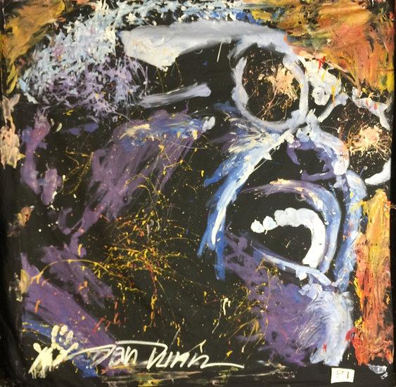 "72""x72"" Ray Charles Acrylic on Theatrical Muslin"