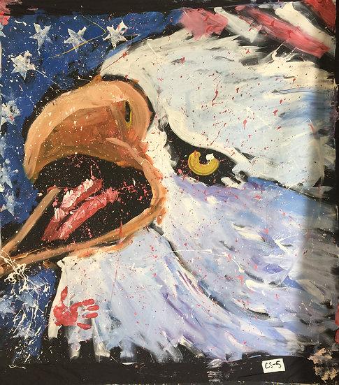 "60""x60"" Eagle Acrylic on Theatrical Muslin"