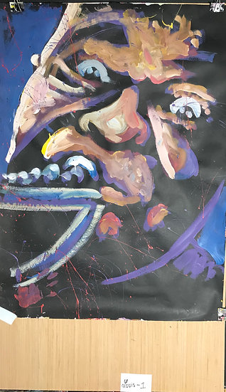 "Louie Armstrong 36""x47"" On Paper"