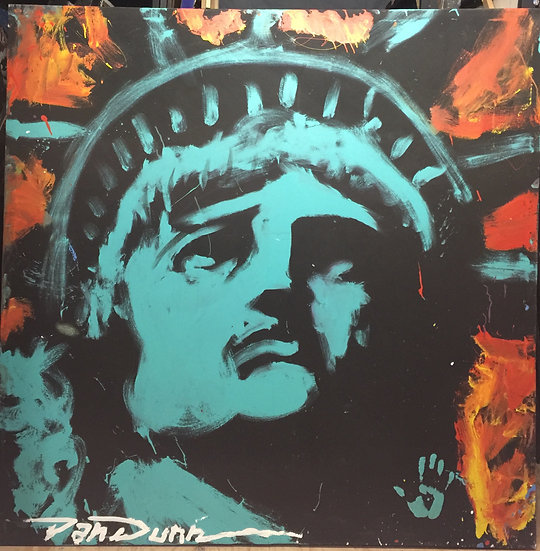 """Lady Liberty 66""""x66"""" On Stretched Canvas"""