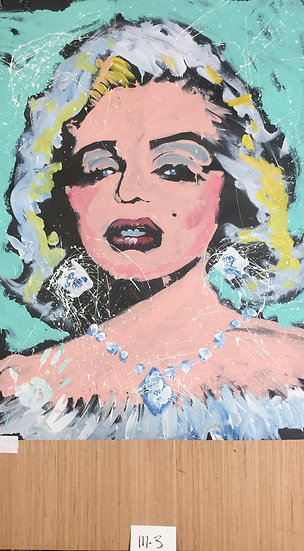 """Marilyn 36""""x48"""" On Paper"""