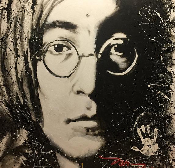 "48""x48"" John Lennon Acrylic on Canvas"