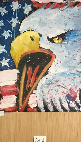 "Eagle 36""x48"" On Paper"