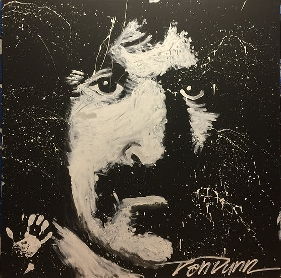 "48""x48"" Frank Zappa Acrylic on Canvas"
