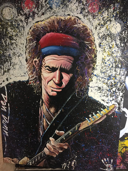 """Keith Richards 84""""x60"""" On Stretched Canvas"""
