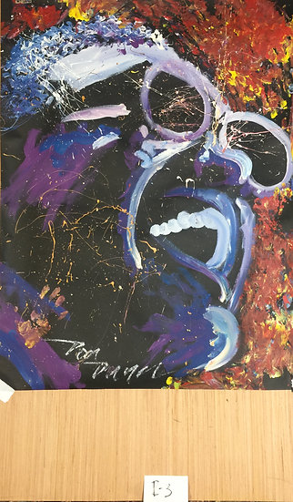 """Ray Charles 36""""x48"""" On Paper"""