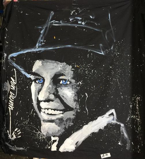 "72""x72"" Frank Sinatra Acrylic on Theatrical Muslin"