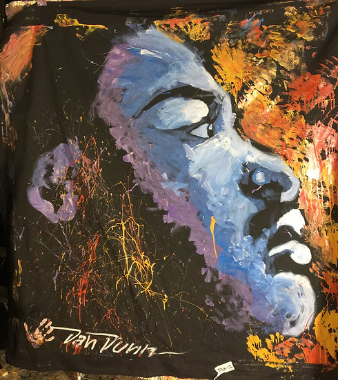 """72""""x72"""" Martin Luther King Jr. Acrylic on Theatrical Muslin"""