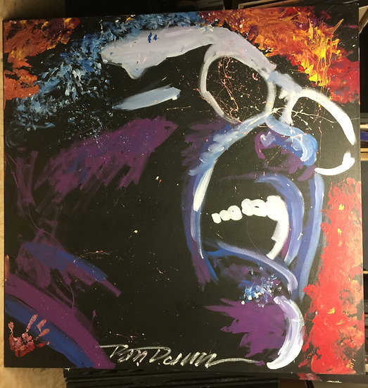 "Ray Charles 60""x60"" On Stretched Canvas"