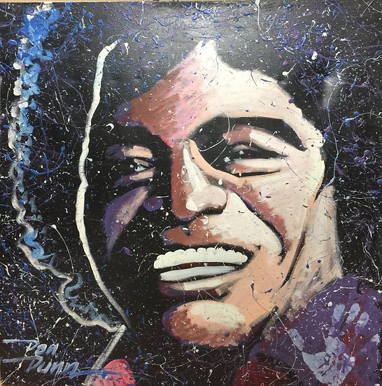 "36""x36"" James Brown Acrylic on Canvas"