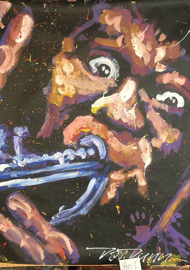 "Louie Armstrong 48""x60"" On Paper"