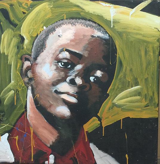 "30""x30"" Child Acrylic on Canvas"