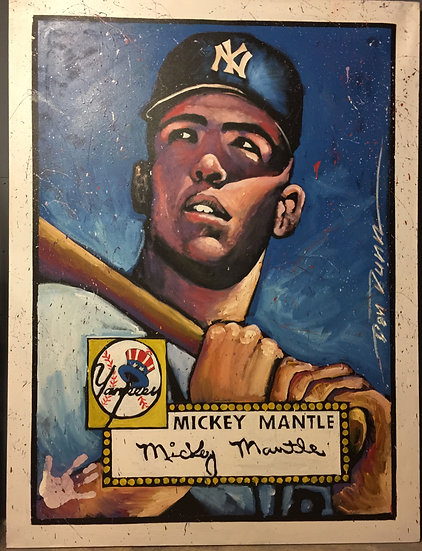 """Mickey Mantle 48""""x72"""""""
