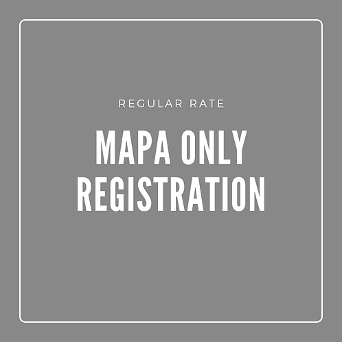 MAPA Sessions Only