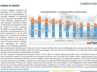 Exportação Brasileira de Produtos Têxteis e Confeccionados
