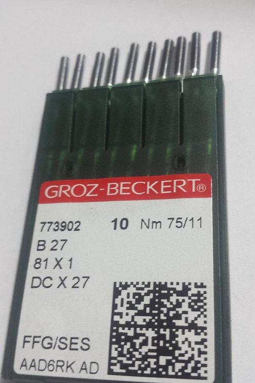 Agulha DCx27 para overlock (caixa com 10 agulhas)