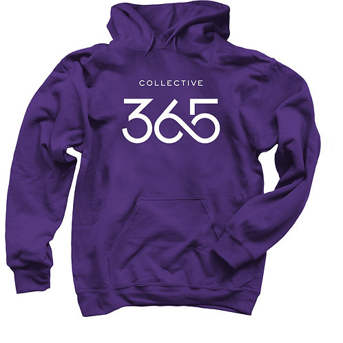 Collective 365 Hoodie, White Logo