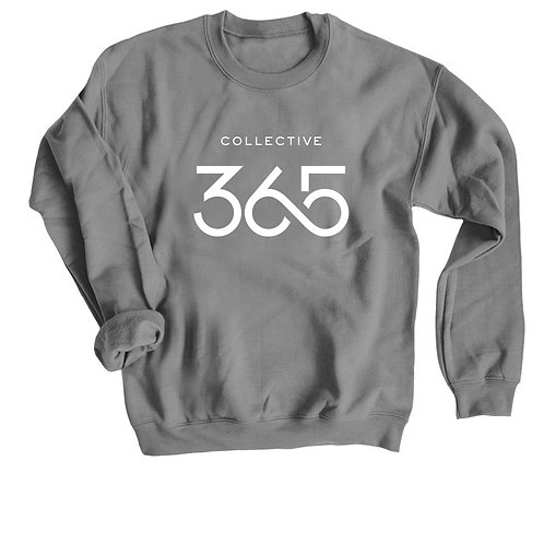Collective 365 Crewneck Sweatshirt, White Logo