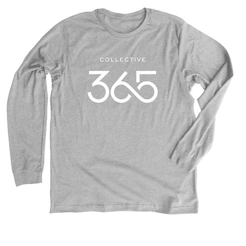 Collective 365 Long Sleeve T-shirt, White Logo