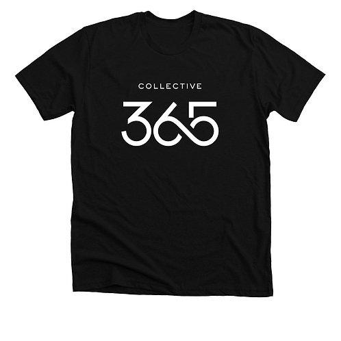 Collective 365 Short Sleeve T-shirt, White Logo