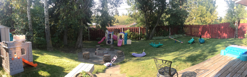Our outdoor playspace.