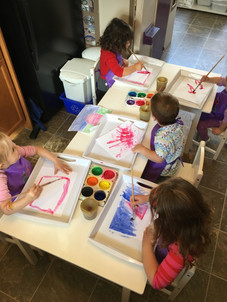 Art time! Creativity and fun are all part of learning!