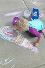 Making our home even more beautiful with a little sidewalk chalk.
