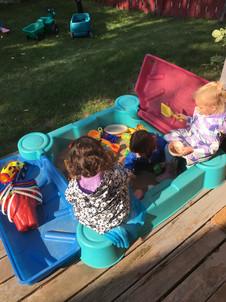 Playtime in the sandbox.