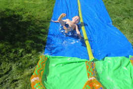 Slipping and sliding in the sun!