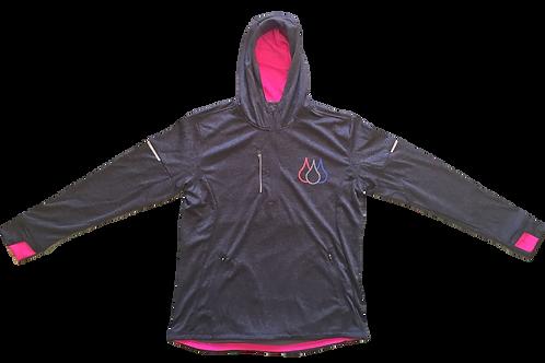 ISF Active Hoodie (Ladies Fluro Pink)