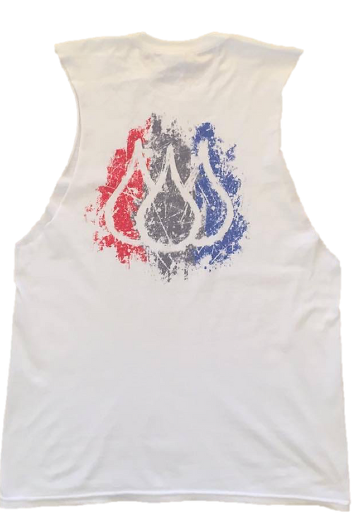ISF Muscle Singlet (White: Stripes)