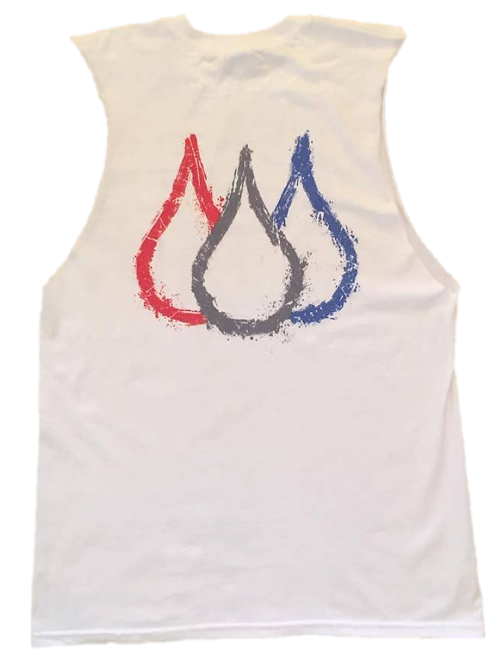 ISF Muscle Singlet (White: Outline)