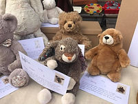 Teddy Bear Event with Soft Toys and Stories on Table - Loved Before
