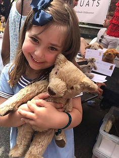 Highgate Fate 2017 Girl Cuddling her Antique Teddy Bear from Loved Before