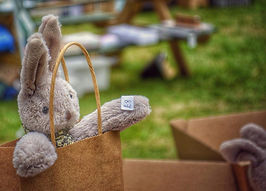 Bunny Rabbit Soft Toy in Brown Papaer Bag - Loved Before