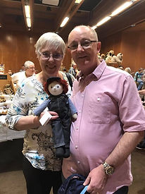 Couple showing their Loved Before Soft Toy from Hugglets 2017